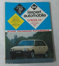 Revue technique EXPERT AUTOMOBILE 251 1988 Citroen AX 10 11 14 3 5 portes sport