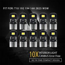 10X Canbus T10 W5W 192 168 194 LED Light Xenon White 6000K 2835-SMD Bulbs CHH