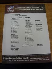 03/01/2011 Colour Teamsheet: Scunthorpe United v Watford  . Thanks for viewing o