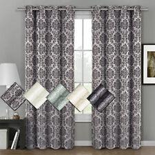 "Aryanna Jacquard Grommet Top Curtain (Set of 2) Panel 108"" W x 96"" L"