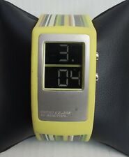 Mens United colors of Benetton Digital Rubber Band LED Watch Rare Find A2