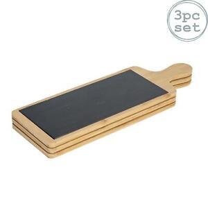 Slate Bamboo Food Antipasti Tapas Serving Paddle Board Dining Wedding 455x150 x3