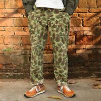Bronson HBT Duck Hunter Camo Trousers US Army Military Men Pants Fatigue Uniform