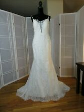wedding dress size 10 ivory soft  lace over tulle Maggie Sottero