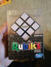 Rubiks Cube 3x3 Original Brain Teaser Puzzle Strategy w/Stand Hasbro