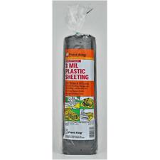 Thermwell P1025/3B Plastic Sheeting Poly Roll, 10' x 25', Black