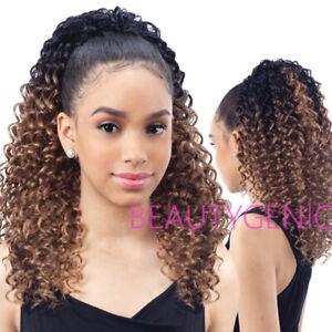 SNG Freetress Equal Drawstring Curly Hair Ponytail Lagoon Girl