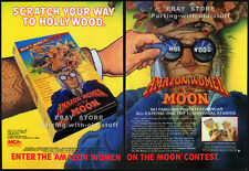 AMAZON WOMEN ON THE MOON__Original 1988 Trade AD / 4pg movie promo__JOHN LANDIS