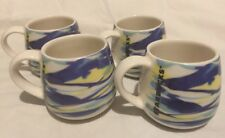 Starbucks Demi Mug 3 oz- 4 Piece Set Watercolor Set Spring 2017 New! Blue Yellow