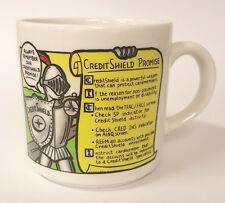 Credit Shield Promise Soldier Porcelain Advertising Company Coffee Mug B79