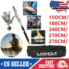 1.5-2.7m Lixada Telescopic Fishing Rod Spinning Reel Combo Sea/Freshwater Set Us