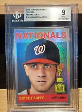 BRYCE HARPER Trophy Cup RC - 2013 Topps Heritage Chrome REF /564 - BGS 9