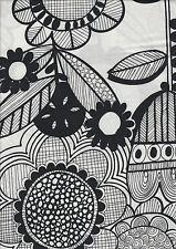 Wildflower Black & White - 100% cotton quilting fabric Half Metre - 50 x 110 cms