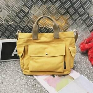 Women Large Shopping Bag Satchel Crossbody Tote Bag Purse Canvas Messenger Bag