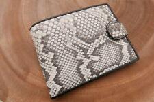 White Genuine PYTHON Skin Leather Wallet for Men