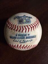 MLB Game Used Baseball Jose Urena vs Andrew Ellis Groundout Phillies Marlins