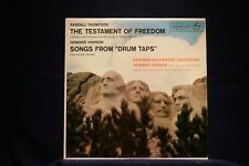 TESTAMENT OF FREEDOM/DRUM TAPS-Thompson/Hanson-Classic Mono on Nr Mt Vinyl LP