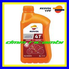 1 Litro Olio Motore 4 tempi REPSOL MOTO RACING 4T 10W40 100% Sintetico MA2 SN