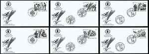 UNITED NATIONS NEW YORK # 894-895+, FULL SET OF 6 FDC COVERS FOOD FOR LIFE, 2005