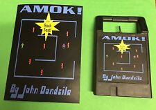AMOK Odyssey2 homebrew videogame cartridge Videopac Magnavox manual video game