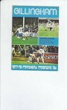 Gillingham Teams F-K League One Football Programmes