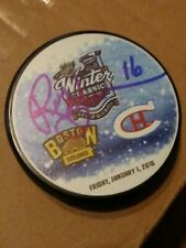 RICK MIDDLETON Boston Bruins Signed Autographed 2016 Winter Classic Puck