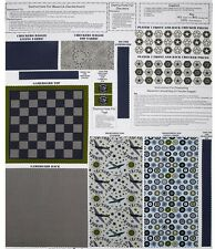 CHECKERS AIR FORCE PILOT MAVERICK CRAFT PANEL w INSTRUCTIONS on COTTON FABRIC