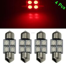 4 X Red 31mm 5050 LED 4 SMD Festoon Dome Car Bulb 3021 3022 DE3175 Light Lamp
