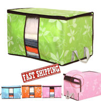 Foldable Storage Bag Clothes Blanket Quilt Closet Sweater Organizer Box Pouch GN