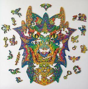 """Sparrow Puzzles Wooden Jigsaw Unique Shape - Fairy Dragon - 265 PCS 1/6"""" Size XL"""