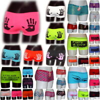 Lot Shorty Femme Microfibre S M L XL XXL panties girl women boxer shorts