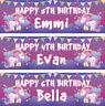 2 personalised birthday banner unicorn star children kids party poster bunting