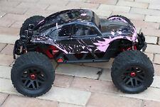 Custom Buggy Body Muddy Pink Black Shell for ARRMA 1/8 Nero 6S BLX Beetle