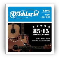 D 'Addario Cuerdas de Guitarra-EZ910-Bronce 85/15 - 11 - 52-Acústica-Light