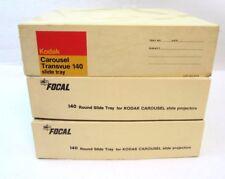 Lot of 3 140 Round Trays For Kodak Carousel Slide Projector 1 Kodak  2 Focal