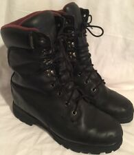 "CHIPPEWA Men's Size 10 M Black Leather Soft Toe Lace Up 10"" Logger Work Boots"