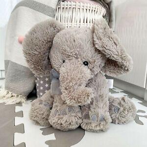 Plush Super Soft Teddy Bear Elephant Cuddly Toy Baby Gift with Ribbon Pink/Blue
