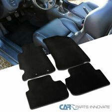 Black Floor Mats For 02-06 Acura RSX Nylon Carpets With Black Stitching 4PC Set