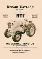 Minneapolis Moline R RTI Parts Manual Catalog 413256-