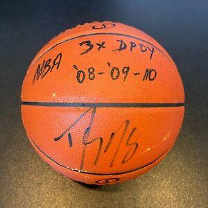 "Dwight Howard ""NBA 3X DPOY 2008, 2009, 2010"" Signed Game Basketball JSA Sticker"