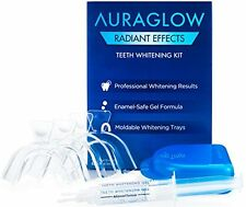 AuraGlow Teeth Whitening Kit Radiant Effect 35% Carbamide Peroxide Gel Tray Safe