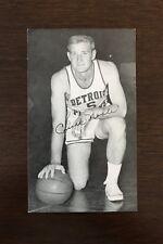 1950s-60's J.D. McCarthy Postcard Chuck Noble Detroit Pistons Signed AUTO EX+