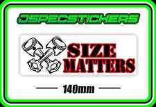 STICKER SIZE MATTERS V8 BIG BLOCK CHEVROLET CLEVELAND CHEVY ENGINE SS COMMODORE