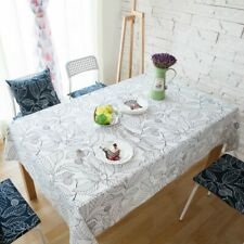 Modern Leaves Print Tablecloth Rectangular Cotton Dining Table Cloth Cover Decor