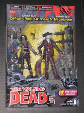 Walking Dead Series 1 Bloody Black & White Rick Michonne Figure 2 Pack Mcfarlane