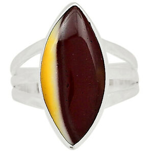 Mookaite 925 Sterling Silver Pendant Jewelry Ring s.8 ALLR-427