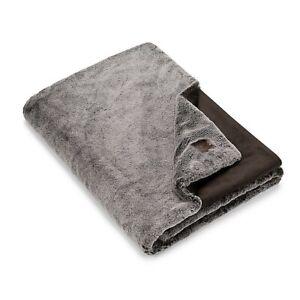 UGG Dawson Chocolate Faux Fur Throw Blanket (New & Free Ship)