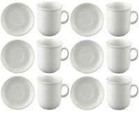 Thomas Trend Weiss Kaffee Becher Tasse 0.28l mit Untertasse 14cm 12tlg. NEU