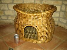 Vintage Wicker Cat Bed Pet Small Dogs Animal House - 2 Tier type