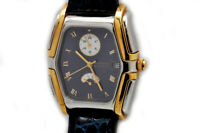 Lucien Rochat Kron steel & gold automatic Power Reserve & GMT new old stock